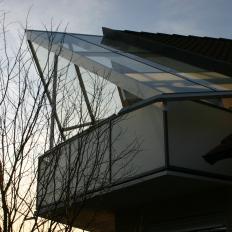 Terrassendach, seitliche Ansicht
