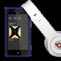 HTC Windows Phone 8X mit Beats Kopfhörer